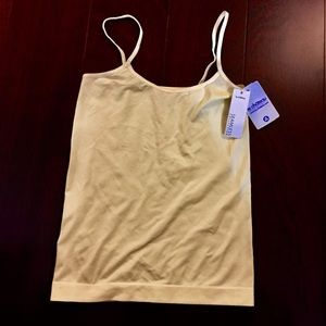 2/$20 NEW Le Chateau Light Pale Yellow Tank Top XS